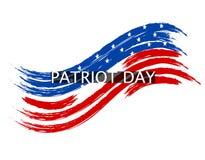 Patriota dnia fala w kolorach flaga państowowa na białym tle inskrypcja ilustracja Zdjęcie Stock