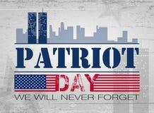 Patriota dnia tło Fotografia Stock