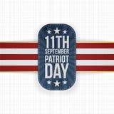 Patriota dnia 11th Września krajowa etykietka Ilustracji