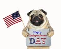 Patriota do cão com uma bandeira 2 imagens de stock royalty free