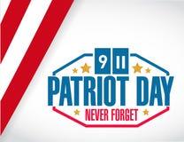 patriota dzień my stemplowy ilustracyjny projekt Zdjęcie Royalty Free