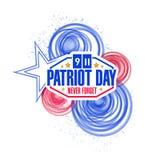patriota dzień okrąża ilustracyjnego projekt Obrazy Stock