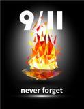 Patriota giorno 11 settembre 2001 Non dimentichi mai Fotografie Stock