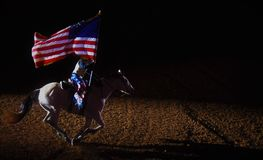 Patriota jeździec obraz royalty free