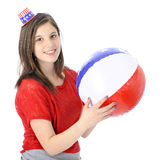 Patriota teenager felice Fotografie Stock Libere da Diritti