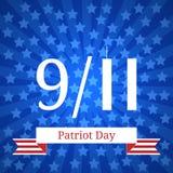Patriotdag in de Verenigde Staten 11 september vierde van Juli-viering Royalty-vrije Stock Afbeeldingen