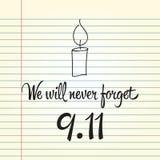 Patriotdag, eenvoudige herdenkingsontwerpillustratie 11 september Royalty-vrije Stock Fotografie
