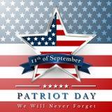 Patriotdagen av USA med stjärnan i nationsflagga färgar amerikanska flaggan Royaltyfri Bild