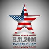 Patriotdagen av USA med stjärnan i nationsflagga färgar amerikanska flaggan Fotografering för Bildbyråer