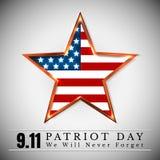 Patriotdagen av USA med stjärnan i nationsflagga färgar amerikanska flaggan Royaltyfria Foton