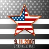 Patriotdagen av USA med stjärnan i nationsflagga färgar amerikanska flaggan Arkivfoto