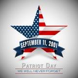 Patriotdagen av USA med stjärnan i nationsflagga färgar amerikanska flaggan Royaltyfria Bilder