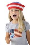 Patriote faisant une pause pour chanter Image libre de droits