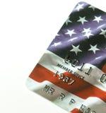 Patriote par la carte de crédit images stock