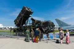 Patrioten MIM-104 är ett SAM-system för den yt-luft- missilen Arkivfoto