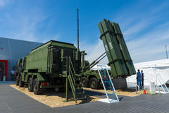 Patrioten MIM-104 är ett SAM-system för den yt-luft- missilen Royaltyfri Foto