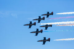 Patrioter Jet Team Arkivfoto