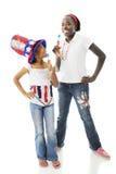 Patriotes avec Popcicles Photos stock