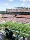 Patriotes contre Giants chez Gillette Stadium Image libre de droits