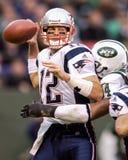 Patriotes de Tom Brady Nouvelle Angleterre Images libres de droits