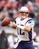 Patrioti del Tom Brady Nuova Inghilterra Immagini Stock Libere da Diritti