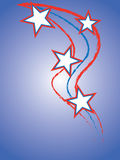 Patriotic. Abstract Patriotic themed with stars and stripes royalty free illustration
