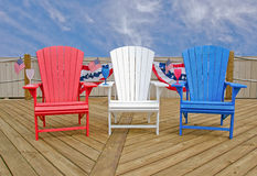 Patriotic Adirondack chairs Stock Image