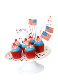 Patriotic American Cupcakes Stock Photography