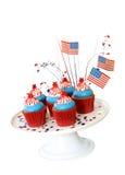 Patriotic American Cupcakes Stock Photography