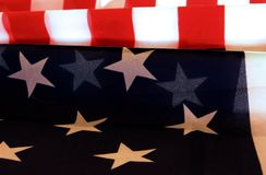 Patriotic American Flag. American Flag Patriotic Stars & Stripes Red White & Blue Royalty Free Stock Photos