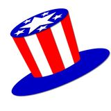 Patriotic American hat Stock Image