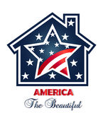 Patriotic american house logo Stock Photography