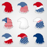 Patriotic American Symbol for Holiday. Eagle. Patriotic American Symbol for Holiday. Illustration Eagle Symbol. EPS 10 Royalty Free Stock Photos