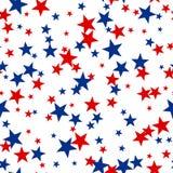 Patriotic American Vector Seamless Pattern Royalty Free Stock Photos