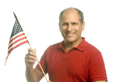 Patriotic American waving flag Royalty Free Stock Image