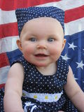 Patriotic Baby 1 royalty free stock image