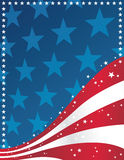 Patriotic Background. American flag patriotic patterned background Royalty Free Stock Photography