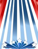 Patriotic Background. Abstract illustration of stripes and stars for any patriotic occasion Royalty Free Stock Photo