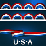 Patriotic Background Banner Set Stock Images