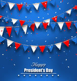 Patriotic Background with Bunting Flags for Happy Presidents Day Stock Image