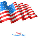 Patriotic Background with Flag USA Waving Wind for Happy Royalty Free Stock Photos