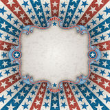 Patriotic background with frame Stock Images