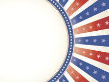 Patriotic Background with Oval Copy Space Stock Image