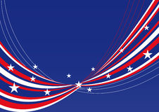 Patriotic background - Stars and stripes. Patriotic background - abstract waves and lines with stars and stripes Stock Photography