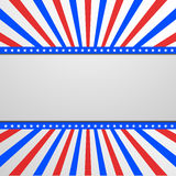Patriotic background with stars and stripes. Detailed illustration of a banner on a patriotic striped background Royalty Free Stock Photos