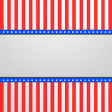 Patriotic background with stars and stripes. Detailed illustration of a banner on a patriotic striped background Stock Photo