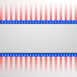 Patriotic background with stars and stripes. Detailed illustration of a banner on a patriotic striped background Stock Photos