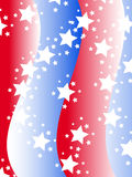 Patriotic background in United States colors. Patriotic background with stars and stripes in red white and blue stock illustration