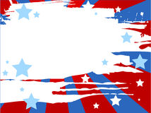 Patriotic background. Vector illustration of grunge patriotic background Stock Photography