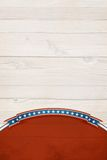 Patriotic background. Patriotic background on white washed wood grain with room for copy space stock images